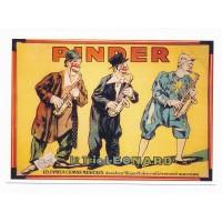 Carte cirque Pinder le trio léonard - Centenaire Editions