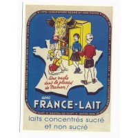 Carte France - Lait concentrés sucré et non sucré - Centenaire Editions