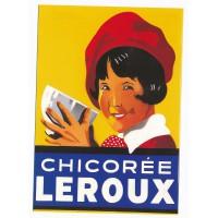 Carte Chicorée Leroux petite fille en rouge - Floriscope