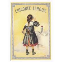 Carte Chicorée Leroux - Editions Clouet Ecolière