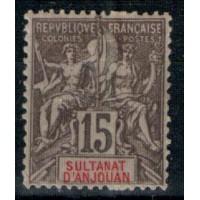 Timbres du Sultanat d'Anjouan - Numéro 15 - Neuf avec charnière