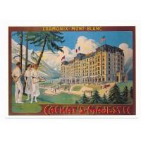 Carte Cachat's majestic - Chamonix Mont Blanc - L'avion Postal