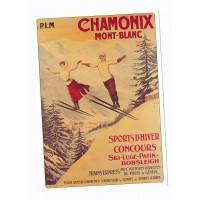 Carte Sport d'hiver concours - Chamonix - L'avion Postal