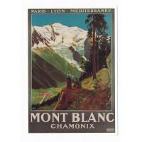 Carte Forets et montagnes - Chamonix - L'avion Postal