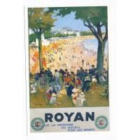 Carte Royan Affiche des chemins de fer - Editions Bonne Anse