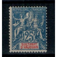 Timbres du Sultanat d'Anjouan - Numéro 16 - Neuf avec charnière