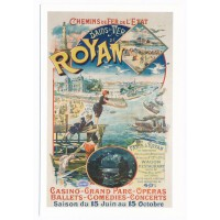 Carte bains de mer de Royan - Editions bonne anse