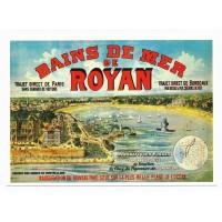 Carte Bains de mer de Royan Tourisme - Centenaire Editions