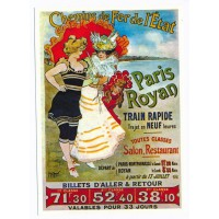 Carte Paris Royan train rapide - Centenaire Editions
