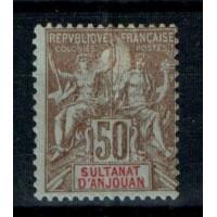 Timbres du Sultanat d'Anjouan - Numéro 19 - Neuf avec charnière