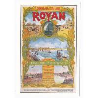Carte Royan ancienne affiche des chemins de fer - Editions Marcou