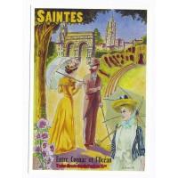Carte Saintes entre cognac et l'océan - Centenaire Editions