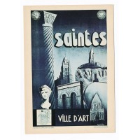 Carte Saintes ville d'art - Editions F.Nugeron