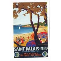Carte Saint palais sur mer - Editions bonne anse