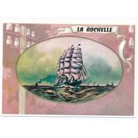 Carte La Rochelle Bateau à la mer - Centenaire Editions