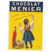 Carte chocolat Menier éviter les contrefaçons - Editions Clouet