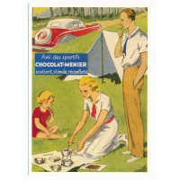 Carte chocolat Menier ami des sportifs - Centenaire Editions