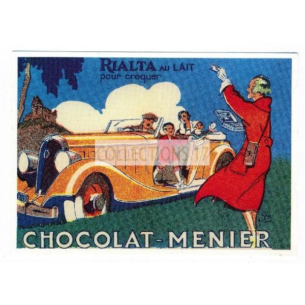Carte chocolat Menier rialta au lait pour croquer - Centenaire Editions
