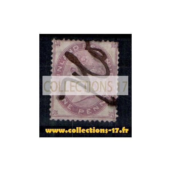 Grande Bretagne - Numéro 5 (fiscaux postaux) - Oblitéré