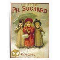 Carte chocolat Suchard Suisse - Centenaire Editions