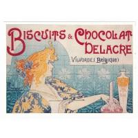 Carte Postale 10x15 Chocolat Delacre Belgique - L'avion Postal