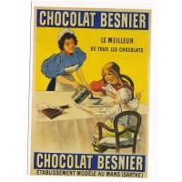 Carte Postale 10x15 Chocolat Besnier Sarthe - Editions Clouet