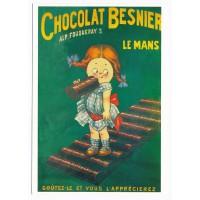 Carte Postale 10x15 Chocolat Besnier le Mans - Editions Clouet