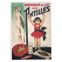 Carte Postale 10x15 Chocolat de la Cie des Antilles - Editions Clouet