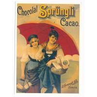 Carte Postale 10x15 Chocolat Sprungli Cacao - Centenaire Editions