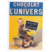 Carte Postale 10x15 Chocolat l'univers - Centenaire Editions