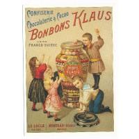Carte Postale 10x15 Chocolaterie & Cacao Bonbons Klaus - L'avion Postal