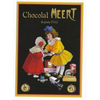 Carte Postale 10x15 chocolat Meert depuis 1761 - Floriscope