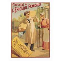 Carte Postale 10x15 chocolat de l'épicerie française - L'avion Postal