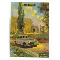 Carte Peugeot 203 - Centenaire Editions