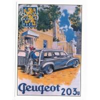 Carte Peugeot break 203 U - Centenaire Editions