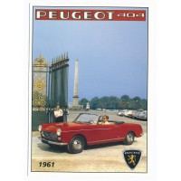 Carte Peugeot 404 cabriolet - Centenaire Editions