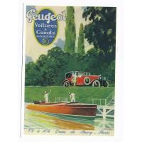 Carte Peugeot voitures & canots - Centenaire Editions