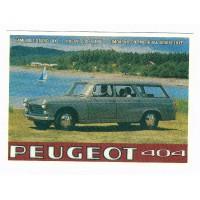 Carte Peugeot 404 break - Centenaire Editions