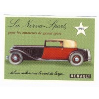 Carte Renault Nerva Sport 1932 - Centenaire Editions