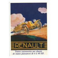 Carte Postale 10x15 Renault de 6 à 40 HP - Centenaire Editions