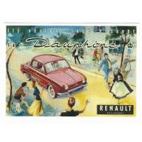 Carte Postale 10x15 Renault Dauphine - Centenaire Editions