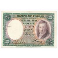 Billet Espagne 25 Pesetas - 1931