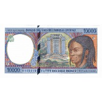 Billet Neuf Congo 10.000 Francs - 1997