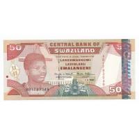 Billet Neuf Swaziland 50 Emalangeni - 1998