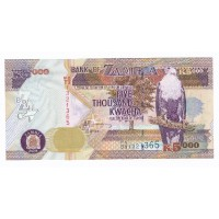 Billet Neuf Zambie 5.000 Kwacha - 2008