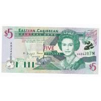 Billet Neuf Ile de Monserrat 5 Dollards - 2000