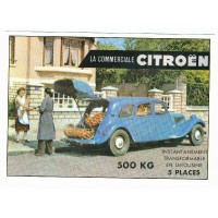 Carte Postale 10x15 Citroen traction commerciale - Centenaire Editions