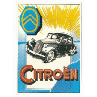 Carte Postale 10x15 Citroen traction noire - Centenaire Editions