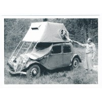 Carte Postale 10x15 Citroen traction camping car - Centenaire Editions