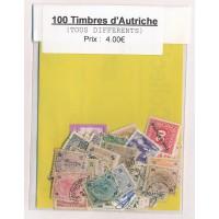 Lot de 100 Timbres d'Autriche PT022
